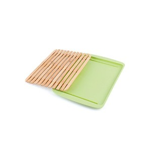 Peterson Housewares BF027702GR4 Cutting Board with Bamboo Fiber Tray, Large, Green by Peterson...