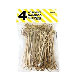 Happy Sales Bamboo knot Skewers 4 100 pc by Happy Sales