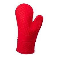 Heat Resistant Insulated Silicone Oven Glove with Liner/ Pot Holder / Grill Mitt by Clever Chef