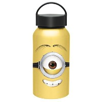 Zak! Designs Aluminum Water bottle with Carrying Loop and Stuart from Minions Movie, 13 oz. by Zak...