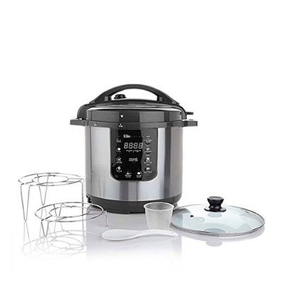Elite Platinum EPC-813 Maxi-Matic 8 Quart Electric Pressure Cooker, Black (Stainless Steel) by...