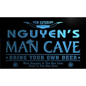 ネオンプレート サイン 電飾 看板 バー pb1229-b Nguyen's Man Cave Cowboys Bar Neon Light Sign