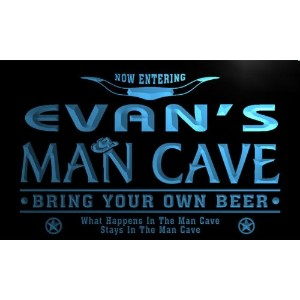 ネオンプレート サイン 電飾 看板 バー pb311-b Evan's Man Cave Cowboys Bar Neon Light Sign