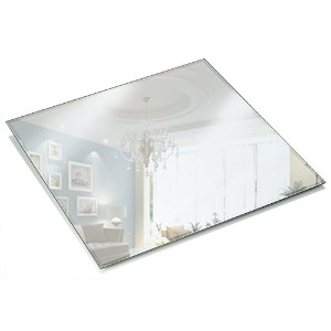 12 Inch Square Mirror Candle Plate 3 mm Thick with Beveled Edge set of 12 by Light In the Dark