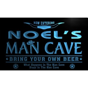 ネオンプレート サイン 電飾 看板 バー pb1999-b Noel's Man Cave Cowboys Bar Neon Light Sign