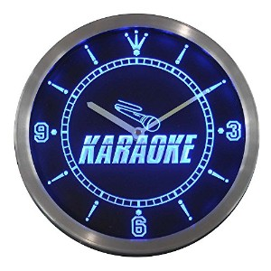 LEDネオンクロック 壁掛け時計 nc0272-b Karaoke Room Display Neon Sign LED Wall Clock