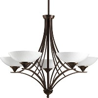 Progress Lighting P4702-20 5-60W G9 Chandelier, Antique Bronze by Progress Lighting