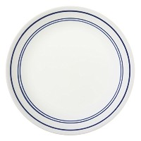 Corelle Livingware 8-1/2-Inch Luncheon Plate, Classic Cafe' Blue (6 Plates) by CORELLE