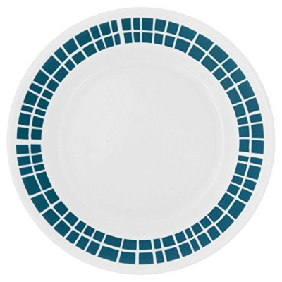 (4) - Corelle Livingware Aqua Tiles 17cm Plate (Set of 4)