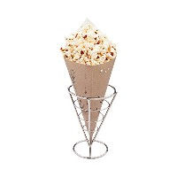 conetek 10-inch環境に優しいブラックFinger Food Cones : Perfect for Appetizers–food-safe用紙円錐–使い捨て、リサイクル可能...