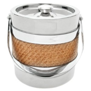 Mr. Ice Bucket 3-Quart Stainless Steel Ice Bucket, Wicker [並行輸入品]