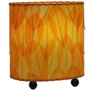 Eangee 531-o Contemporary Guyabano Leaf Indoor Table Lamp, Orange by Eangee