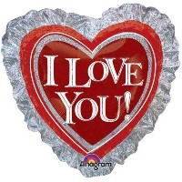 """Anagram International Ily Heart Ruffle Holographic Flat Balloon, 28"""", Multicolor by Anagram..."""