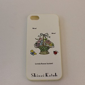 Shinzi Katoh Design/シンジカトウ iPhone5/5S/SE カバー ≪TPUタイプ:白≫ (【TPU7090】 Lovely flower)