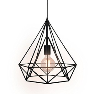 WestMenLights Wrought Iron Diamond Shape Shade Modern Hanging Pendant Light by WestMenLights