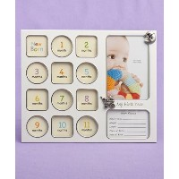 """MY First YEAR - BABY Photo Collage - 11 1/2"""" x 9 1/2"""" x 1/4"""" -Holds 12 PHOTOS & Birth Record -..."""