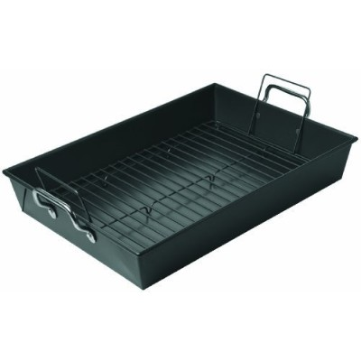 Chicago Metallic Professional Non-Stick Roaster with Handles and Non-Stick Rack, 17-Inch-by-12-Inch