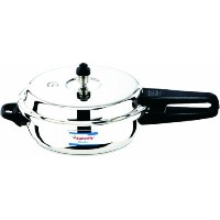 Butterfly BL-SJP Blue Line Stainless Steel Sub-Junior Pan Pressure Cooker, 2-Liter by Butterflyindia...