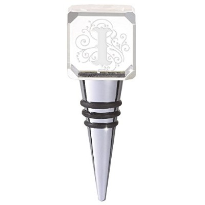 Joan Baker Designs Crystal Bottle Stopper, Monogrammed Letter I [並行輸入品]