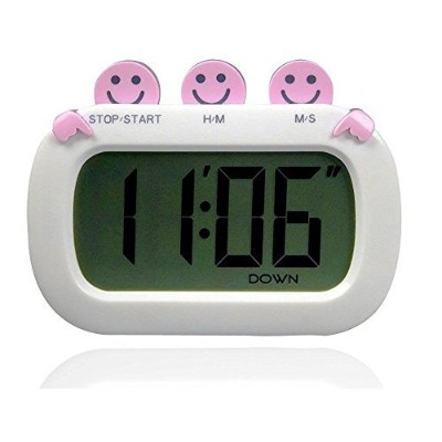 PINGKO Fashion Design Digital Kitchen Countdown Timer with Big Screen and Loud Alarm - Pink by...