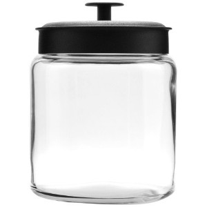 Anchor Hocking Mini Montana Jars with Black Metal Covers, 96-Ounce, Set of 2 by Anchor Hocking ...