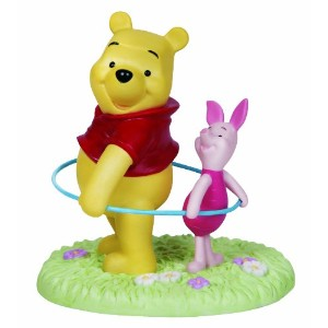 Precious Moments Disney Pooh and Piglet Hoola Hooping Figurine by Precious Moments [並行輸入品]