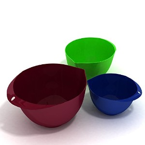3-Piece Mixing Bowl Set, Eco-Friendly, Melamine & BPA Free. Food Prep Set - 3 Mixing Bowls,...