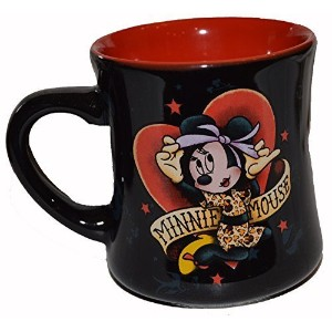 Disney Parks Original Minnie Mouse Tattoo 16oz Coffee Cup Mug 2 Sided by Disney [並行輸入品]