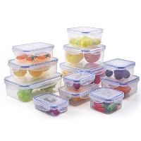 Elaine'Store Plastic Airtight Food Container (Set of 12) by Elaine'Store