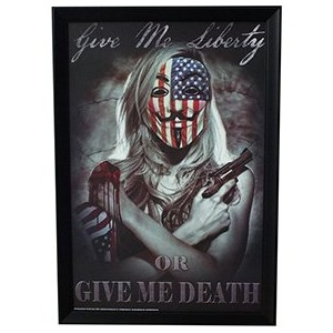 Give Me Liberty or Give Me Death Daveed Benito 24x36 Framed Poster (E2-1109) by Framed Goods [並行輸入品]