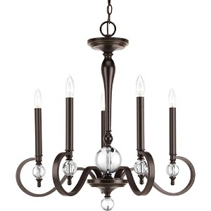 Progress Lighting P4615-20 Traditional/Formal 5-60W Cand Chandelier, Antique Bronze by Progress...
