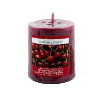 Black Cherry Scented Pillar Candle by Luminessence [並行輸入品]