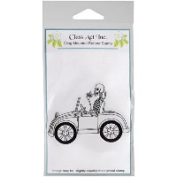"""Class Act Cling Mounted Rubber Stamp 3.25""""X5.5""""-Skellie Car (並行輸入品)"""