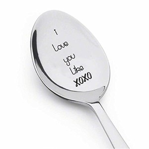 I Love You Like XOXO – Engravedスプーンのコーヒーやお茶スプーン – Engravedティースプーンfor your true love – 提案プレゼント友達プレゼント...