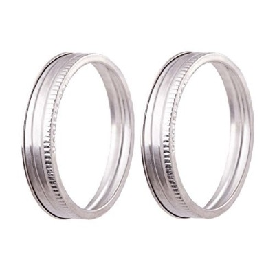 Stainless Steel Jar Bands - 304 Stainless - Durable and Rust-free Canning Rings - By EcoJarz (2,...