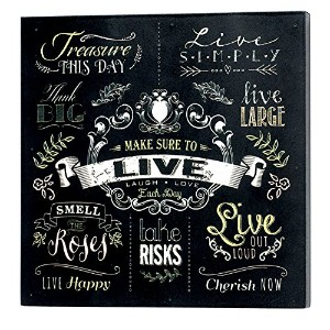 "Jozie B 246302 "" Live "" Wood Wall Plaque"