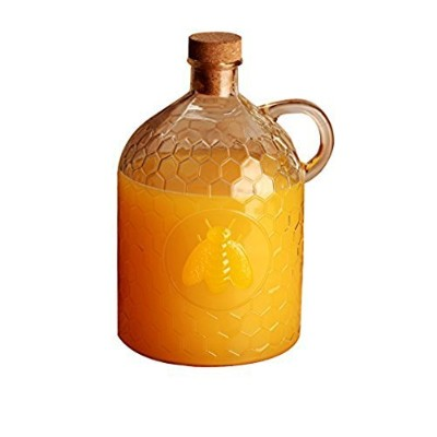 Circleware Honey Bee 2 Liter Glass Jug Pitcher with Cork Stopper (1) by Circleware