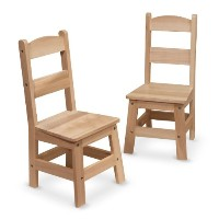 Melissa & Doug Wooden Chairs, Set of 2 [並行輸入品]