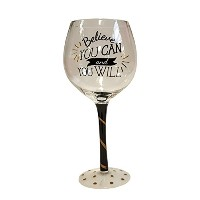 Inspired Wine Glasses Believe クリア PI-10818-DEI-BL