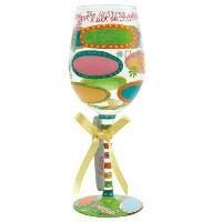 Lolita Personalize It Wine Glass, Hostess with the Mostest [並行輸入品]