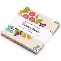 Meadowbloom Moda Charm Pack By Prairie Grass Patterns; 42 - 5 Precut Fabric Quilt Squares by moda