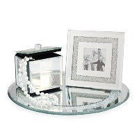American Atelier 1331183 3-Piece Oval Mirror Vanity Set with Tray, Picture Frame and Jewelry Box ...