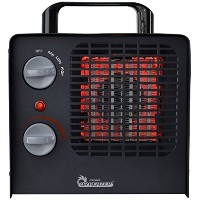 Dr. Heater DR-838 Family Red Ceramic Space Heater with Adjustable Thermostat by Dr Infrared Heater