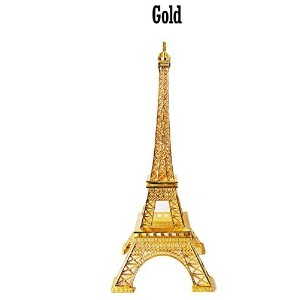 Craft and Party, Metal Eiffel Tower Centerpiece Decoration (Small, Gold) by Craft & Party