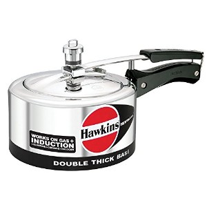 Hawkins Hevibase IH20 2-Litre Induction Pressure Cooker, Small, Silver [並行輸入品]