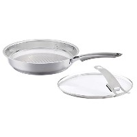 Fissler SteeluxプレミアムFry Pan withガラス蓋 One Size FISS-AMZ102BOM