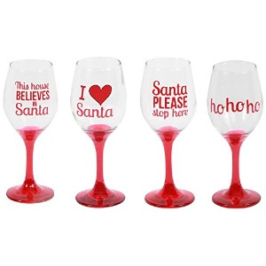 DEI Wine Sayings Wine Glass, Set of 4 [並行輸入品]