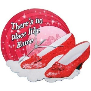 Westland Giftware The Wizard of Oz MDF Wood Wall Clock, 11.25-Inch, Ruby Slippers by Westland...