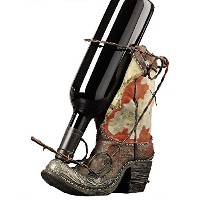 Gift Craft Wine Bottle Rack with Boot Design [並行輸入品]