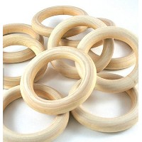 25 Natural Wood Circle/ring Pendant/connectors Jewelry Making 2-1/4 Woodpeckersテつョ by Woodpeckers
